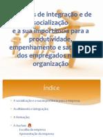 Métodos de integração e de socialização