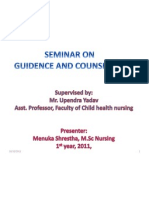 Guidence and Counseling- Menuka Shrestha