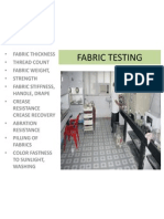 Fabric Testing -Thickness