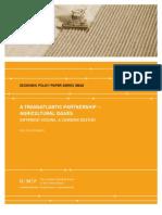 A Transatlantic Partnership — Agricultural Issues