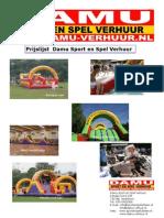 Folderprijslijst uitleen 2013