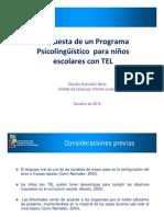 Intervención Psicolingûística en niños con TEL