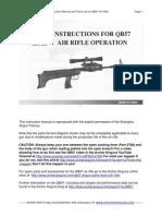 QB57 Air Rifle Operator's Manual and Parts Diagram