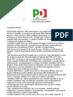 Comunicato Stampa PD 09 10 12 -1