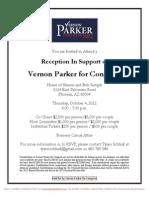 Reception for Vernon Parker