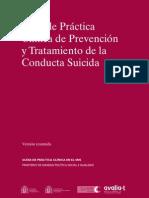 Guía de practicas clínicas Conducta Suicida  Resum