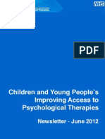 NHS IAPT Children and Young People's Project Newsletter June 2012