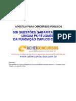 500 Questões de Língua Portuguesa FCC com Gabarito