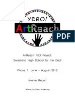 Yebo ArtReach - Phase 1 Interim Report