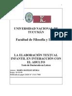 Murga Maria Matilde La Elaboracion Textual en Interacción Con el Adulto Tesis Doctoral