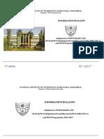 Information Bulletin 2012-13 PG Programmes