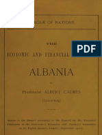 The Economic and Financial Situation of Albania - Albert Calmes; League of Nations (1922)