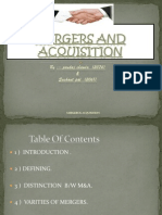 mergers and acquisiitions