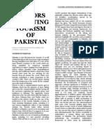 Factors Affecting Tourism of Pakistan