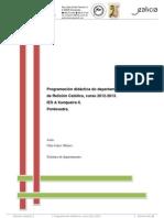 Programación didáctica de Relixión Católica-2012-2013