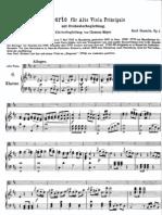 Stamitz Viola Concerto (Score)