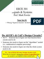 EECE 301 Note Set 1 Overview