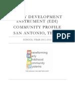EDI Community Profile 2012 San Antonio