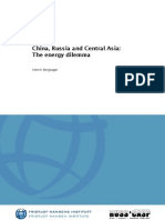 China, Russia and Central Asia- The Energy Dilemma