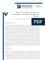 Impact of Counter-Terrorism on Communities- Netherlands Background Report