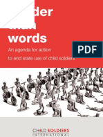 Louder Than Words- An Agenda for Action to End State Use of Child Soldiers