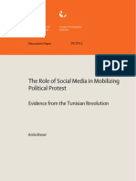Role of Social Media in Mobilizing Political Protest- Evidence From the Tunisian Revolution