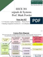 EECE 301 Note Set 27 CT Laplace Transform