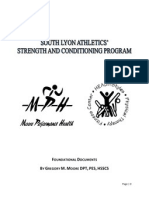 strength program overview - fall 2012