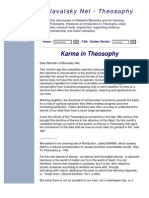 Theosophy Popularized the Concept of Karma in the West