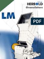 Neue Herbold Granulator Lm Series