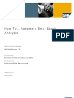 How to... Automate Error Stack Analysis