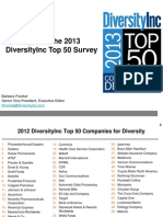 Tips for the 2013 DiversityInc Top 50 Survey