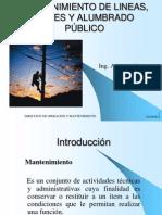 MANTENIMIENTO DE LINEAS, REDES Y ALUMBRADO PÚBLICO EERSA 2012.