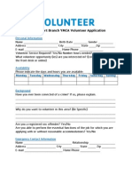 Williamsport Branch YMCA Volunteer Application
