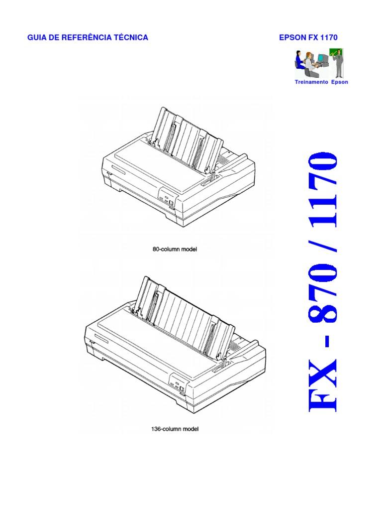 Epson FX-870, FX-1170 (Em Portugues) Service Manual