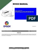 Epson SC-440, SC-640, SC-740 Service Manual
