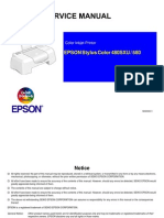 Epson Sc 480sxu, Sc 580 Service Manual