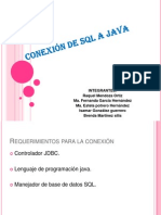 Conexion de SQL a Java
