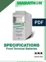 GNB Battery Marathon 155 Datasheet
