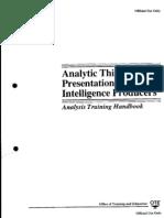 CIA Analysis Training Handbook