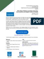 FDA Citizen Petitions 11.5.12