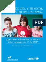 Calidad de vida y bienestar subjetivo infantil en España