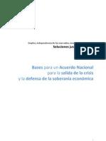 Bases para un Acuerdo Nacional para la Salida de la Crisis y la Defensa de la Soberania Economica