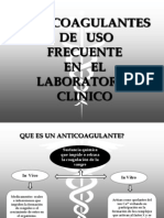 3.- Anticoagulantes de Uso Frecuente en Lab. Clinico