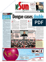 TheSun 2009-01-20 Page01 Dengue Cases Doubled