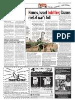 TheSun 2009-01-20 Page10 Hamas Israel Hold Fire Gazans Reel at Wars Toll