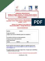 Ficha de inscripción y programa