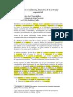 El Analisis Economico y Financiero de La Actividad Empresarial