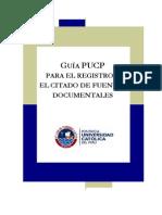 Guia PUCP para el registro y citado de fuentes documentales 2009