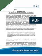 Aplazamiento elecciones CDJ Barranquilla